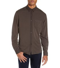 paige stockton slim fit long sleeve jersey sport shirt, size x-large in mountain at nordstrom