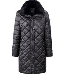 doorgestikte jas met blinde 2-weg-ritssluiting van basler grijs