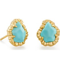 kendra scott 14k gold-plated colored mother-of-pearl stud earrings