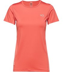 nora tee t-shirts & tops short-sleeved orange kari traa