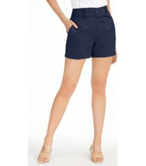 inc linen belted shorts, created for macy's