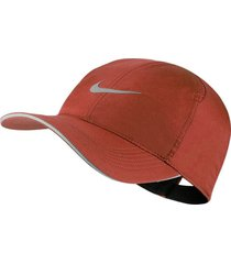 gorra nike featherlight running-naranja