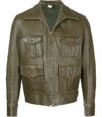 fake alpha vintage 1930s hunting jacket - grey