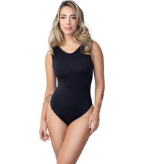 body rb moda camiseta costa nua suplex preto - preto - feminino - poliã©ster - dafiti