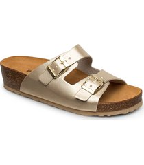 biabetty wedge buckle sandal shoes summer shoes flat sandals guld bianco