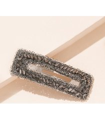 rectangle hollow faux crystal hair clip
