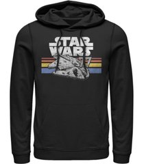 fifth sun men's star wars vintage-like falcon fleece pullover hoodie
