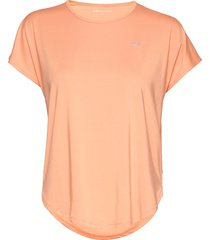 leo loose top t-shirts & tops short-sleeved orange röhnisch