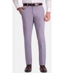 haggar men's premium comfort khaki slim-fit 2-way stretch wrinkle-resistant flat-front casual pants