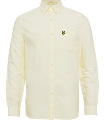 oxford shirt overhemd business geel lyle & scott
