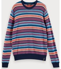 scotch & soda lightweight structured knit pullover