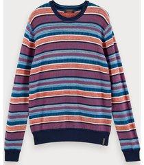 scotch & soda lightweight structured knit pullover
