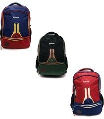 mochila deportiva wilson morral vintage escolar bolso