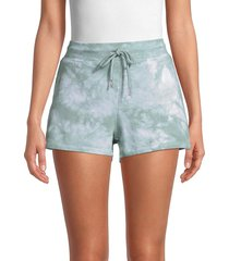 marc new york performance women's tie-dyed shorts - sage - size s