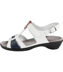 sandalett semler vit::blå::röd