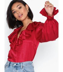 nly trend time off blouse festblusar
