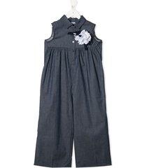 piccola ludo shirt style jumpsuit - blue