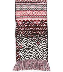alanui fairisle animalier scarf