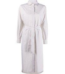 max mara stripe-print shirt dress