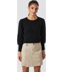 trendyol button detailed mini skirt - beige