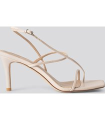 na-kd shoes strappy stiletto sandals - beige