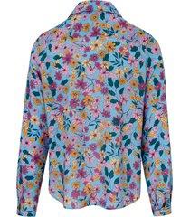 blouse met lange mouwen en bloemenprint van mybc multicolour