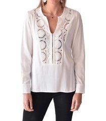 blusa broderie blanco alexandra cid