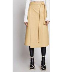 proenza schouler leather wrap skirt birch/brown 4