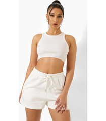 basic sweat shorts, ecru