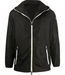 moncler raglan short parka coat - black