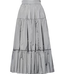 prada full tiered midi skirt - grey