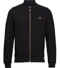 twill track jacket sweat-shirt tröja svart fred perry