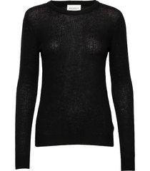pure cashmere o-neck pullover stickad tröja svart sparkz copenhagen