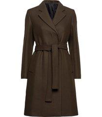 kaya coat wollen jas lange jas bruin filippa k