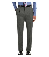 executive collection traditional fit pleated front dress pants by jos. a. bank