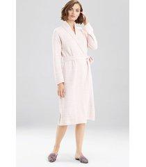 natori serenity cardigan robe, women's, deep garnet, size l natori