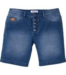 shorts lunghi elasticizzati regular fit (blu) - john baner jeanswear
