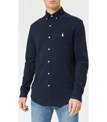 polo ralph lauren men's featherweight mesh long sleeve shirt - aviator navy - xxl