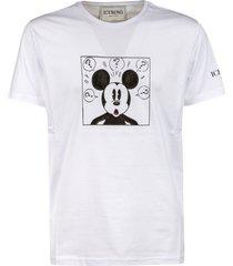 iceberg box mickey mouse print t-shirt