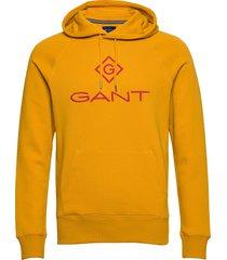 d1. color lock up hoodie hoodie trui geel gant