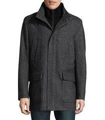 heathered coat