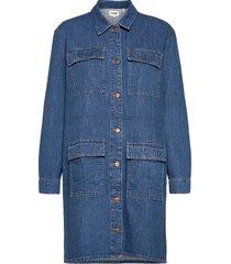 utility dress jeansjack denimjack blauw wrangler