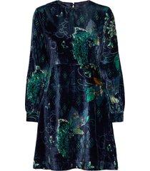 cherry bomb dress knälång klänning grön odd molly