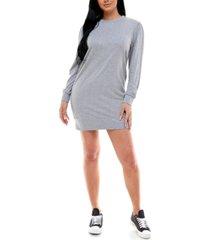 kingston grey juniors' puff-sleeve casual dress
