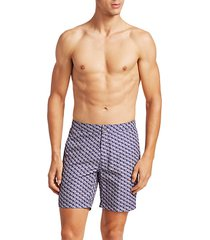 modern wave geometric swim shorts