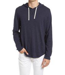 men's vince regular fit slub hoodie, size large r - blue