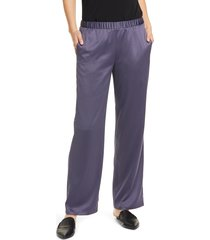 women's eileen fisher pull-on straight leg recycled polyester pants