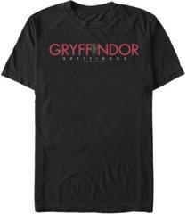 fifth sun harry potter men's hogwarts gryffindor text logo short sleeve t-shirt