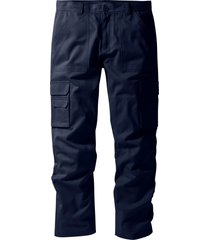 pantalone cargo regular fit straight (blu) - bpc selection