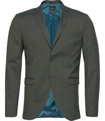 slhslim-mylologan green blazer b noos blazer colbert groen selected homme